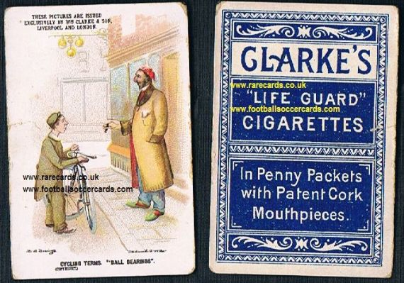 1900 William Clarke & Son Clarke's cigarettes card cycling terms Ball Bearings